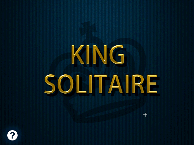 [King Solitair title screen]