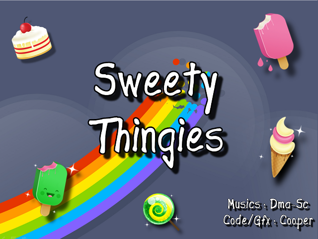 [Sweety Thingies title screen]